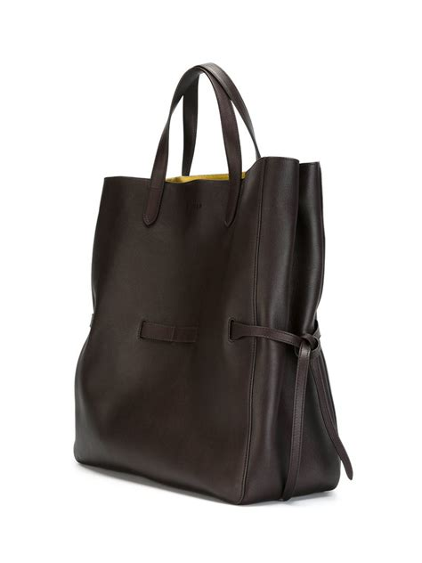 Jil Sander 2007 Bags by Lyst Jil Sander Large Lace Tote Bag In Brown