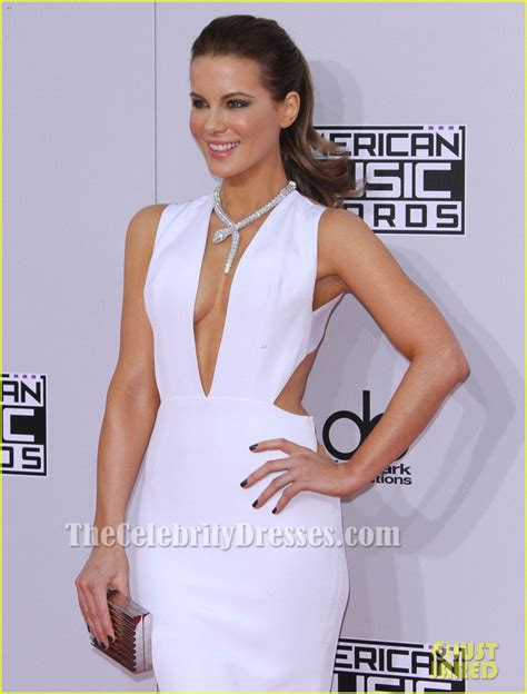 Kate Beckinsale Sexy White Evening Gown 2014 American Music Awards   TheCelebrityDresses