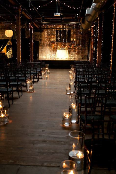 Wedding Aisle Lights by Best 25 Wedding Aisle Candles Ideas On Winter
