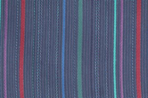 Denim Upholstery Fabric Woven Stripe Upholstery Fabric In Denim Multi