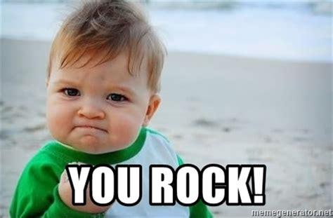 Rock Baby Meme - you rock fist pump baby meme generator