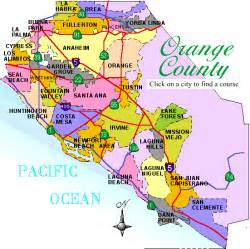 where is orange county california on map orange county california map