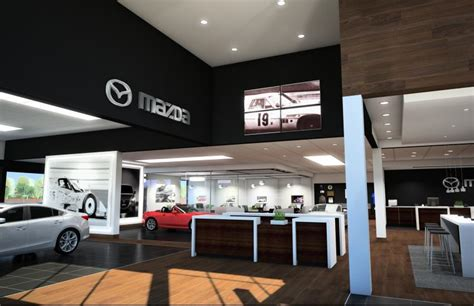 mazda dealership parts from cars to buildings mazda infuses dealerships with