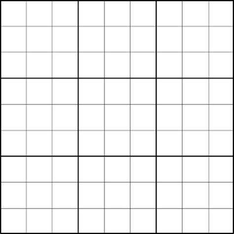 3x3 Printable Card Template by 5 Best Images Of Printable Blank Grid 3x3 Blank Sudoku
