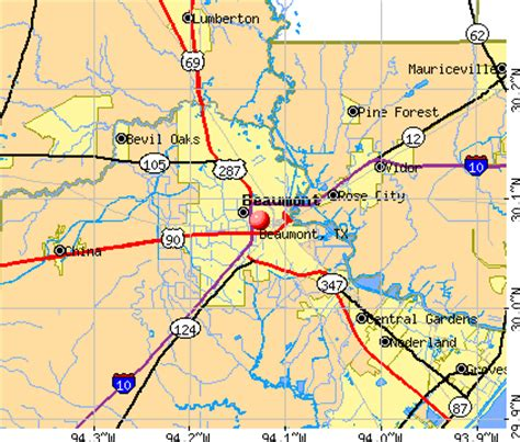 map of beaumont texas beaumont texas map
