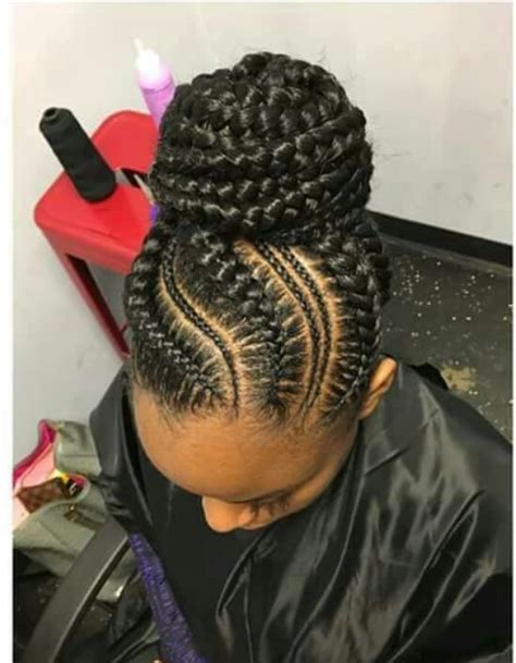 cornrow hairstyles with buns cornrow styles with bun hair is our crown