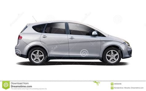 family car side view seat altea isolated on white stock photo image 89008496