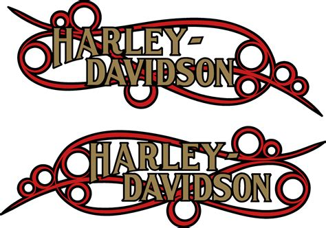 Stiker Harley Davidson Line 30 Cm harley davidson softail custom scroll decal sticker collideascope