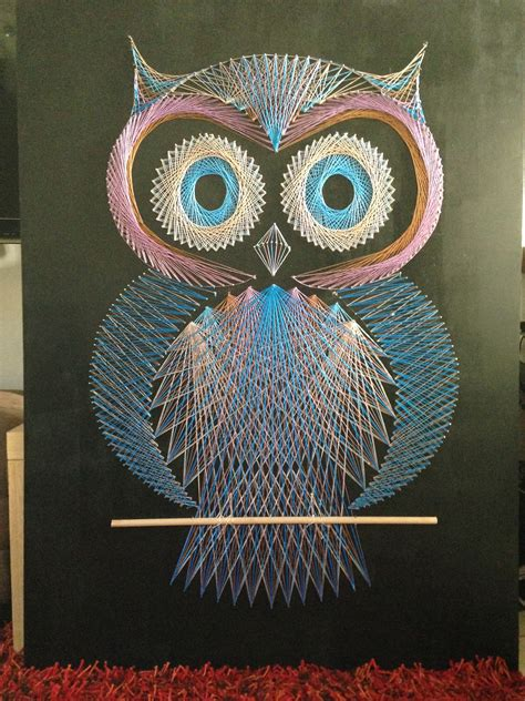 string art pattern owl string art the great rucksack revolution