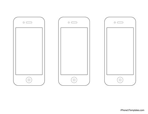 Best Photos Of Iphone 5 Design Template Free Printable Iphone Templates Iphone 5 Template And Iphone Layout Template