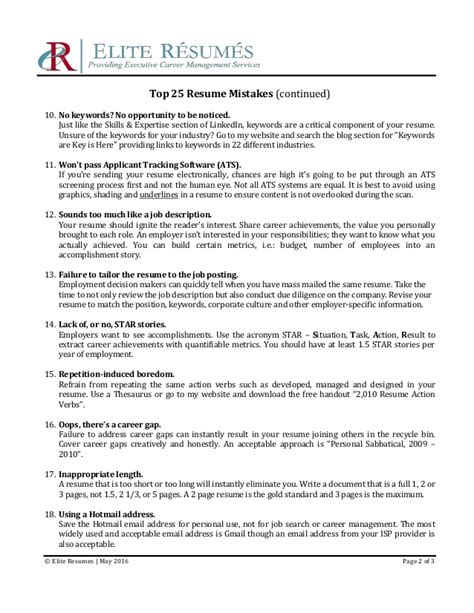 top 10 resume mistakes contemporary top 10 resume mistakes to avoid illustration exle resume and template ideas