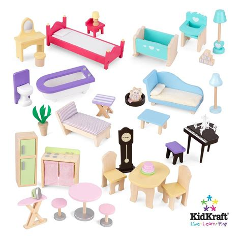 kidcraft doll house furniture kidkraft majestic mansion dollhouse with furniture new