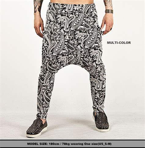 pattern baggy jeans new mens fashion bottom splendid paisley pattern low