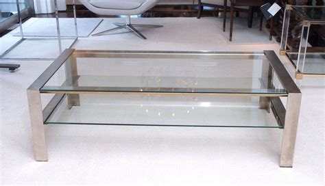 Steel Coffee Table Handsome Coffee Table In Brushed Stainless Steel At 1stdibs