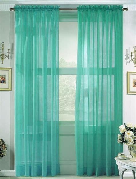 transparente gardinen mit muster vorh 228 nge t 252 rkis lassen sie jeden raum edel aussehen