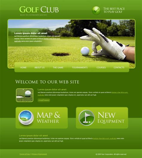 bootstrap themes free golf 6186 sports fitness website templates dreamtemplate
