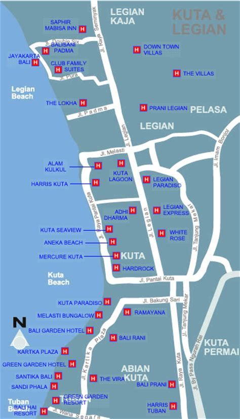 Paradiso Villa Bali Indonesia Asia bali map indonesia kuta map with hotels location