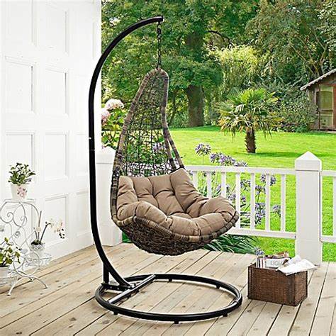 stand alone porch swing modway abate patio stand alone swing chair bed bath beyond