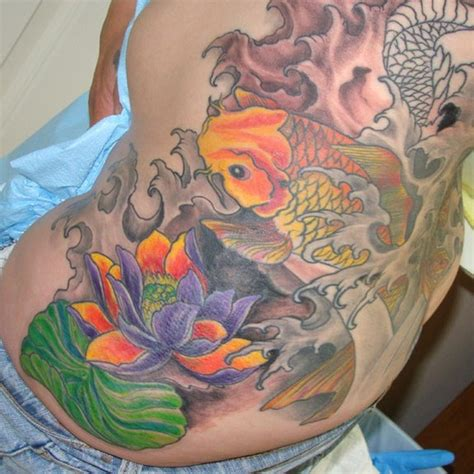 tattoo lotus koi cyber tattoo koi lotus tattoos