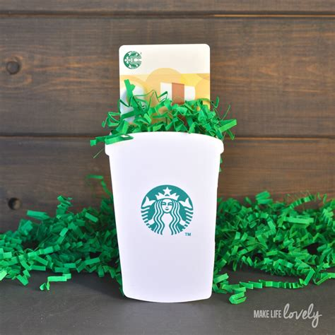 Check A Starbucks Gift Card - diy starbucks gift card holder make life lovely