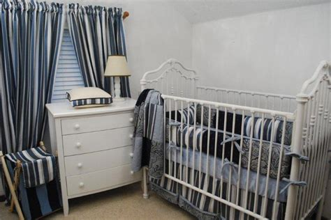 navy and white crib bedding navy white stripe nursery crib bedding ideas pinterest