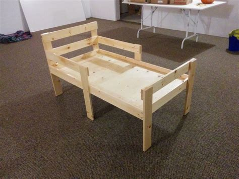 How To Make A Toddler Bed by How To Make Wooden Bed Rails Mpfmpf Almirah Beds