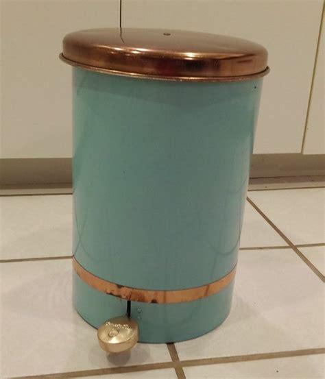 vintage beauty can waste bin lincoln beautyware copper