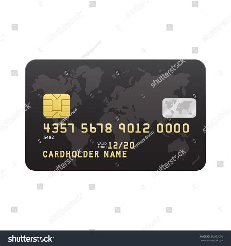 black credit card template black credit card template isolated on white background