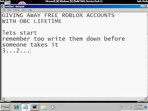 Roblox Giveaway Accounts - 3 free roblox accounts doovi