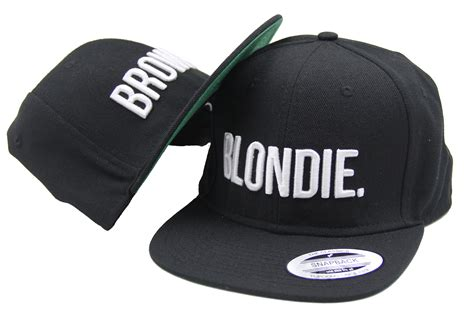 Testo Blondie by Blondie Brownie Snapback Paio Moda Ricamato Cappello