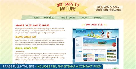 themeforest money back download themeforest get back to nature html free nulled