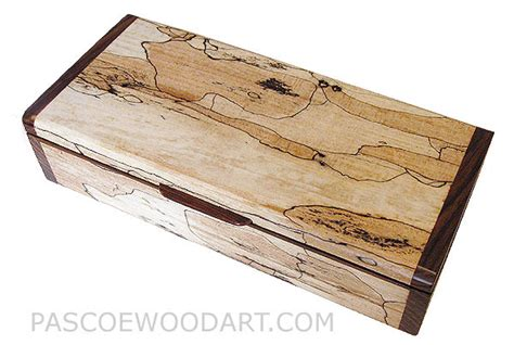Handmade Decorative Boxes - handmade wood box small keepsake box spalted maple cocobolo