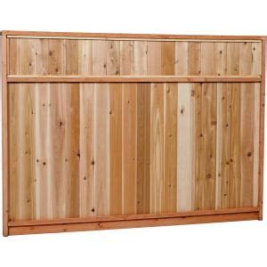 ft   ft premium cedar solid top fence panel