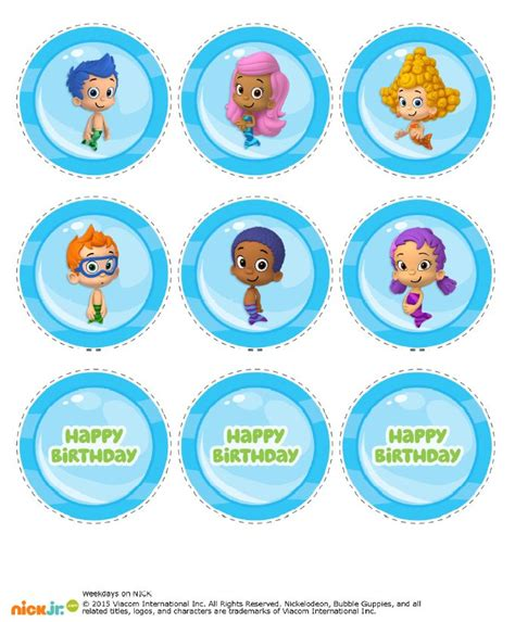 bubble guppies birthday banner template www pixshark com