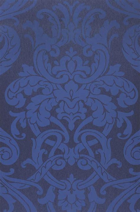 tapeten der 70er maradila kobaltblau blau barock tapeten