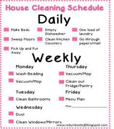 How To Keep A Clean House Schedule cleaning schedules daily cleaning and house cleaning schedules