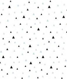 papier peint triangles noir et mint
