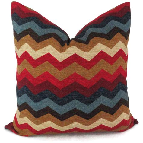 Zig Zag Pillows by Blue And Zig Zag Decorative Pillow Cover 18x18 20x20