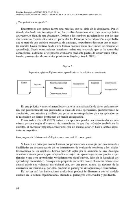 Diseño Curricular Y Evaluacion Taxonom 237 A Congruencia Entre El Dise 241 O Curricular Y La Evaluacion De