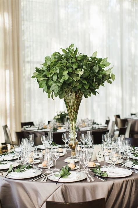 Wedding Aisle With Tables by Best 20 Green Wedding Centerpieces Ideas On