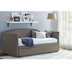 daybed with trundle gray upholstered linen day bed grey