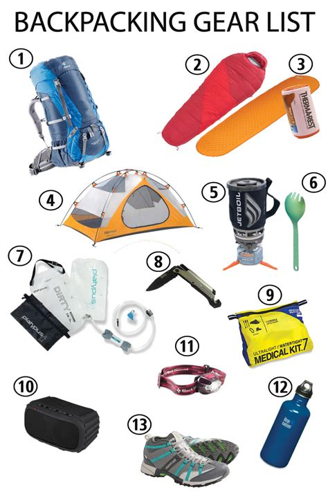 hiking gear backpacking gear list beginner recommendations bearfoot theory