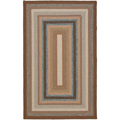 safavieh braided multi 8 ft x 8 ft safavieh braided brown multi 8 ft x 10 ft area rug brd313a 8 the home depot