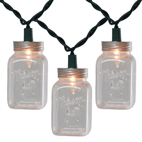 Clear Mason Jar String Light Set Jar String Lights
