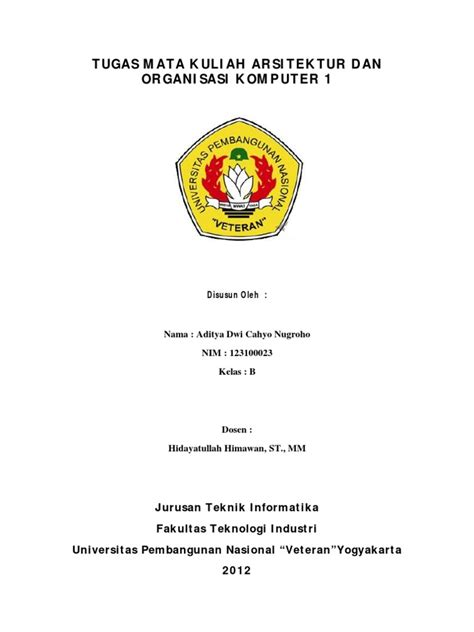 Aljabar Dan Teori Berhitung 1 Untuk Sltp tugas mata kuliah arsitektur dan organisasi komputer 1