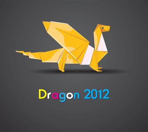 Origami Materials - 4 designer origami vector material 02 vector