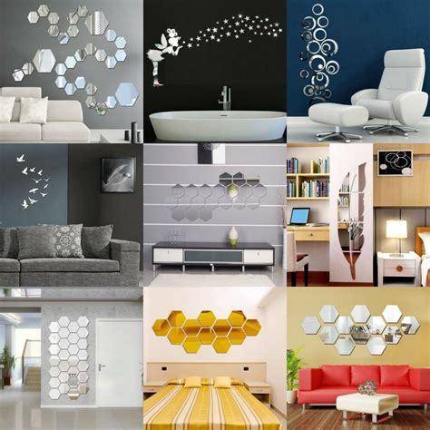 home decor stickers wall 3d mirror floar vinyl removable wall sticker acrylic