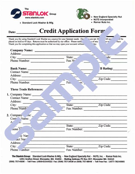 Credit Application Form Template Doc doc 647873 credit application form 40 free credit