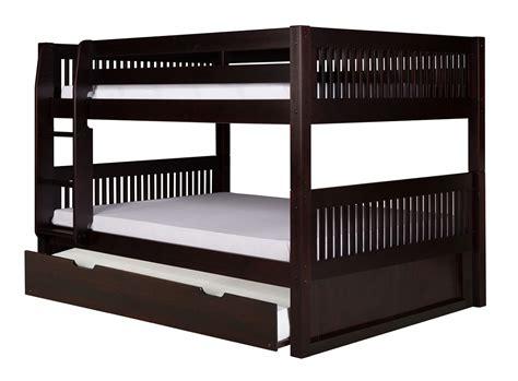 on low bunk bed trundle mission black