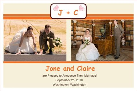wedding announcement template free photo templates wedding announcement
